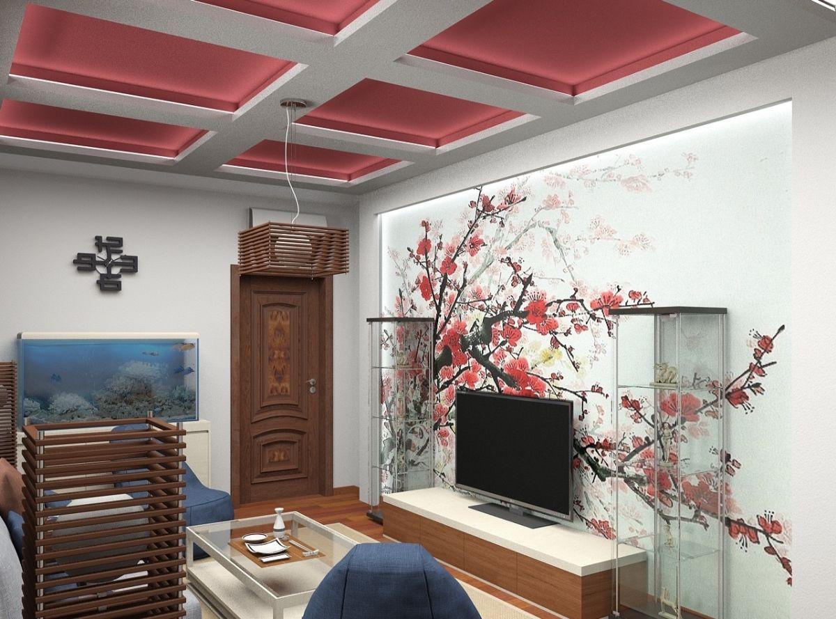 японский дизайн в комнате