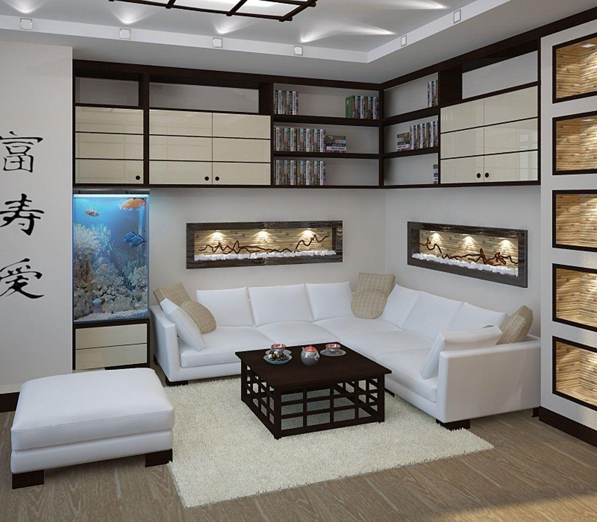 японский стиль гостиная на фото