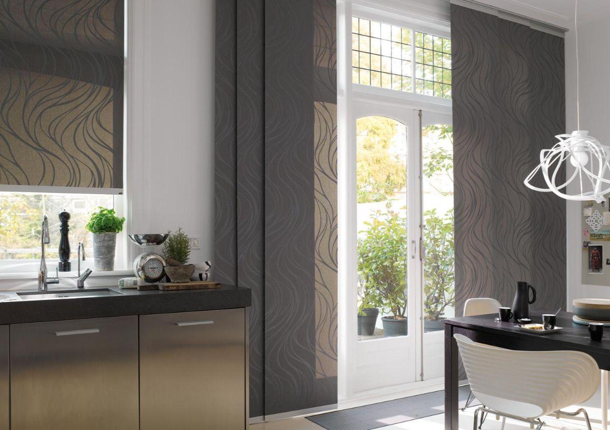 японский стиль шторы в дизайне интерьера