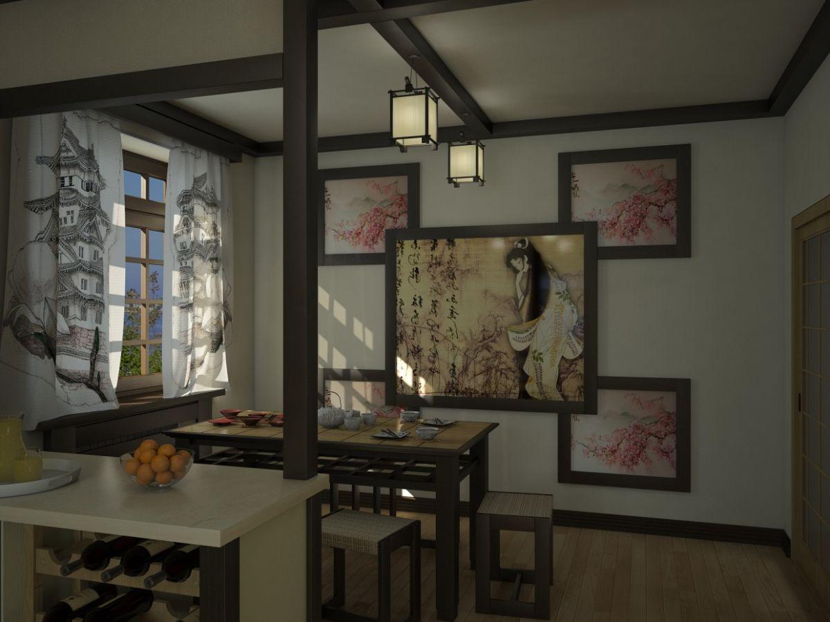 японский стиль в дизайне кухни