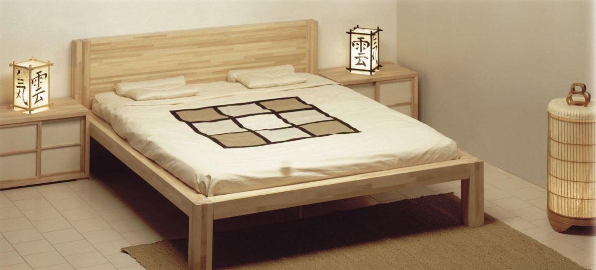 японский стиль в интерьере аскетичной спальни