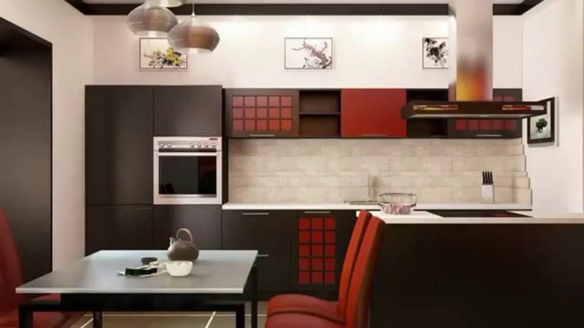 японский стиль в интерьере кухни красивый пример