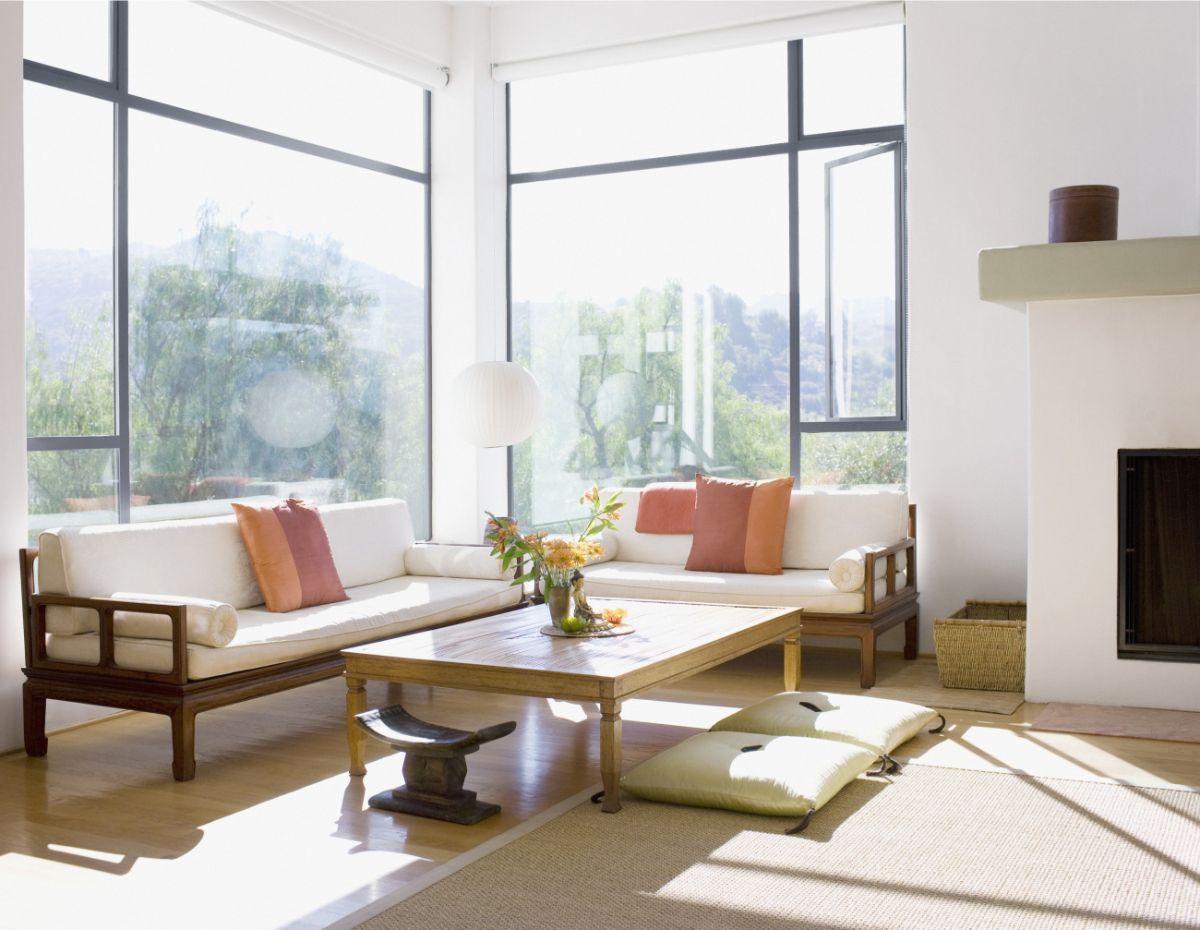 японский стиль в интерьере панорамные окна