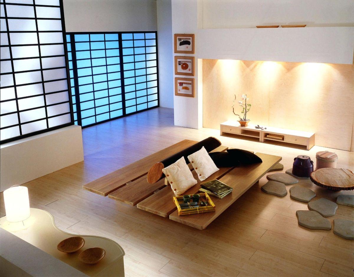 японский стиль в интерьере подсветка