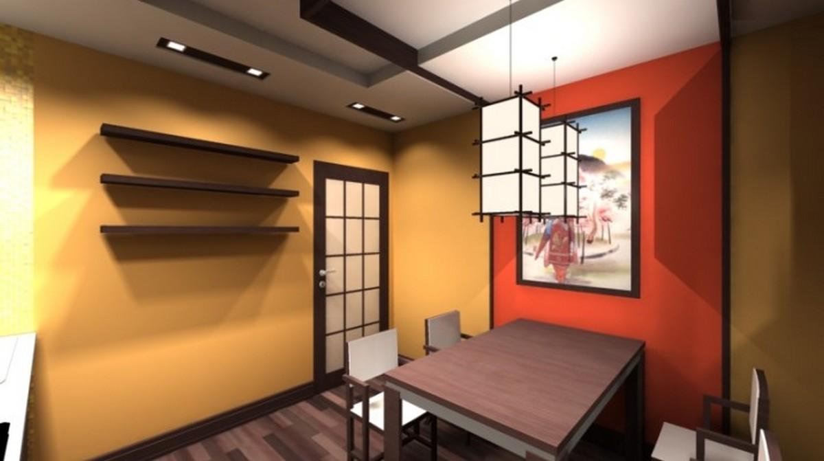 японский стиль в интерьере современной кухни