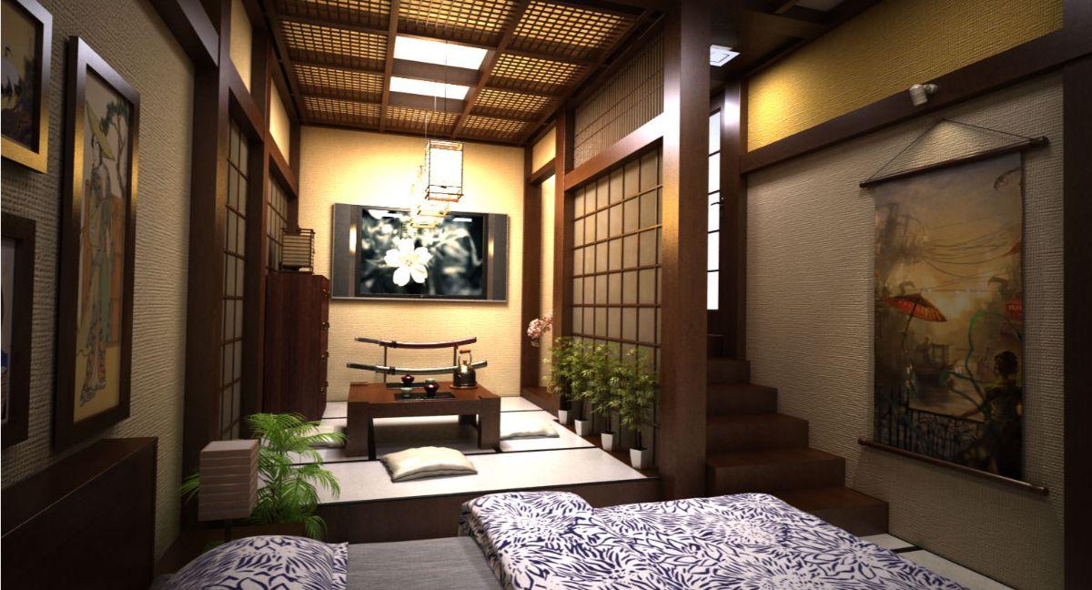 японский стиль в интерьере уютный дизайн