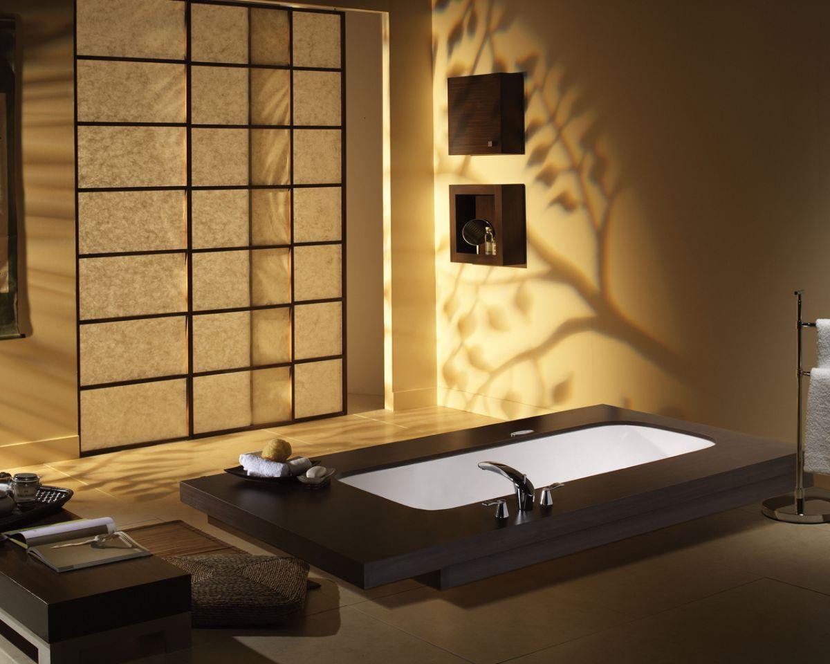 японский стиль в интерьере ванной