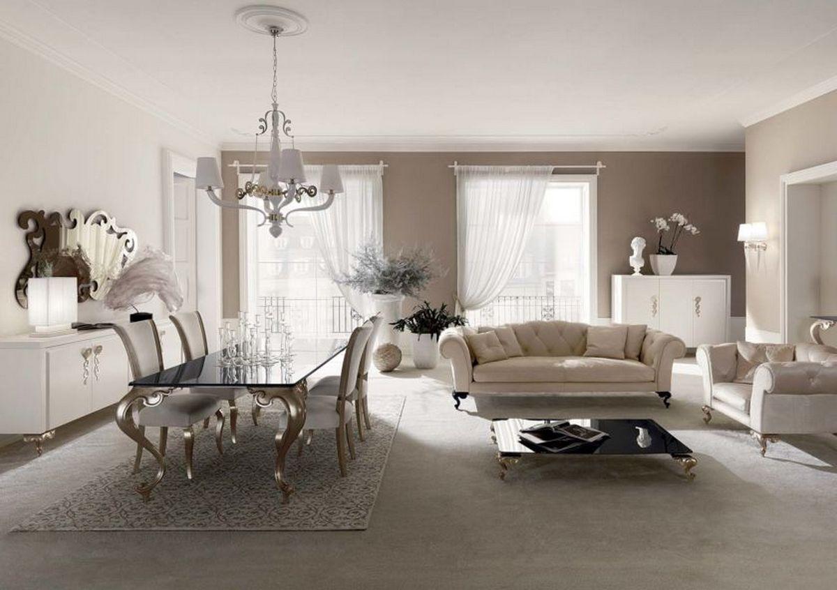 гостиная в стиле барокко фото пример