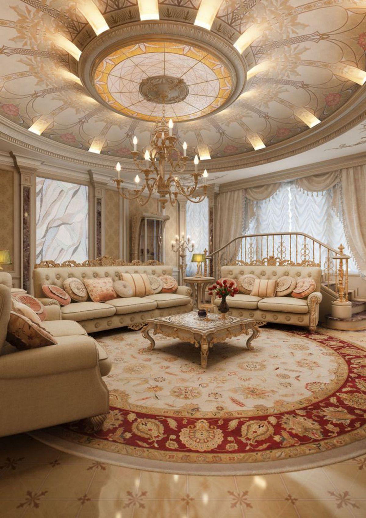 гостиная в стиле барокко на фото