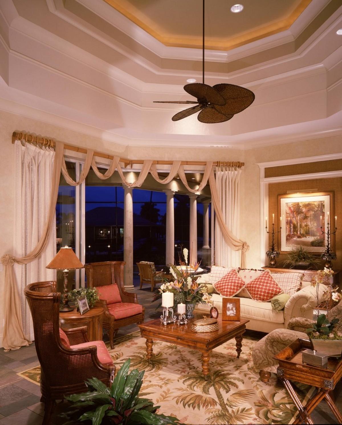 гостиная в стиле барокко с эркером