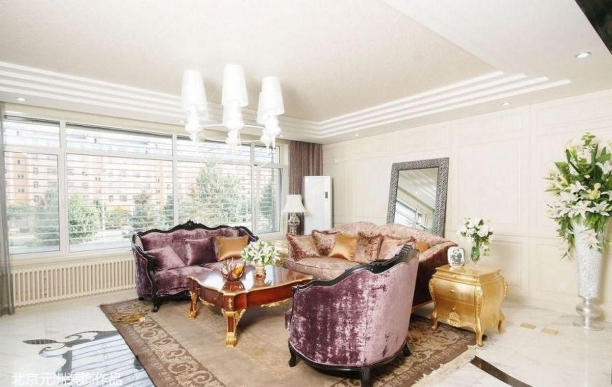 гостиная в стиле барокко современная вариация