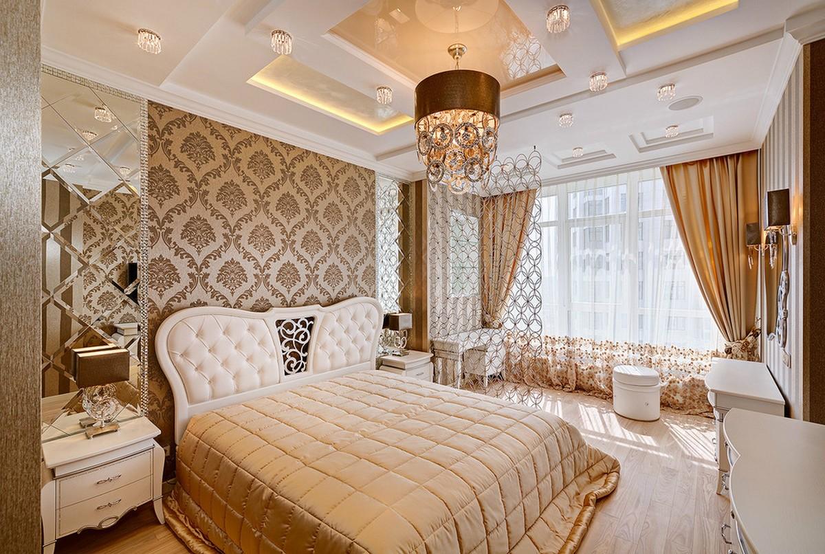 спальня в стиле барокко пример