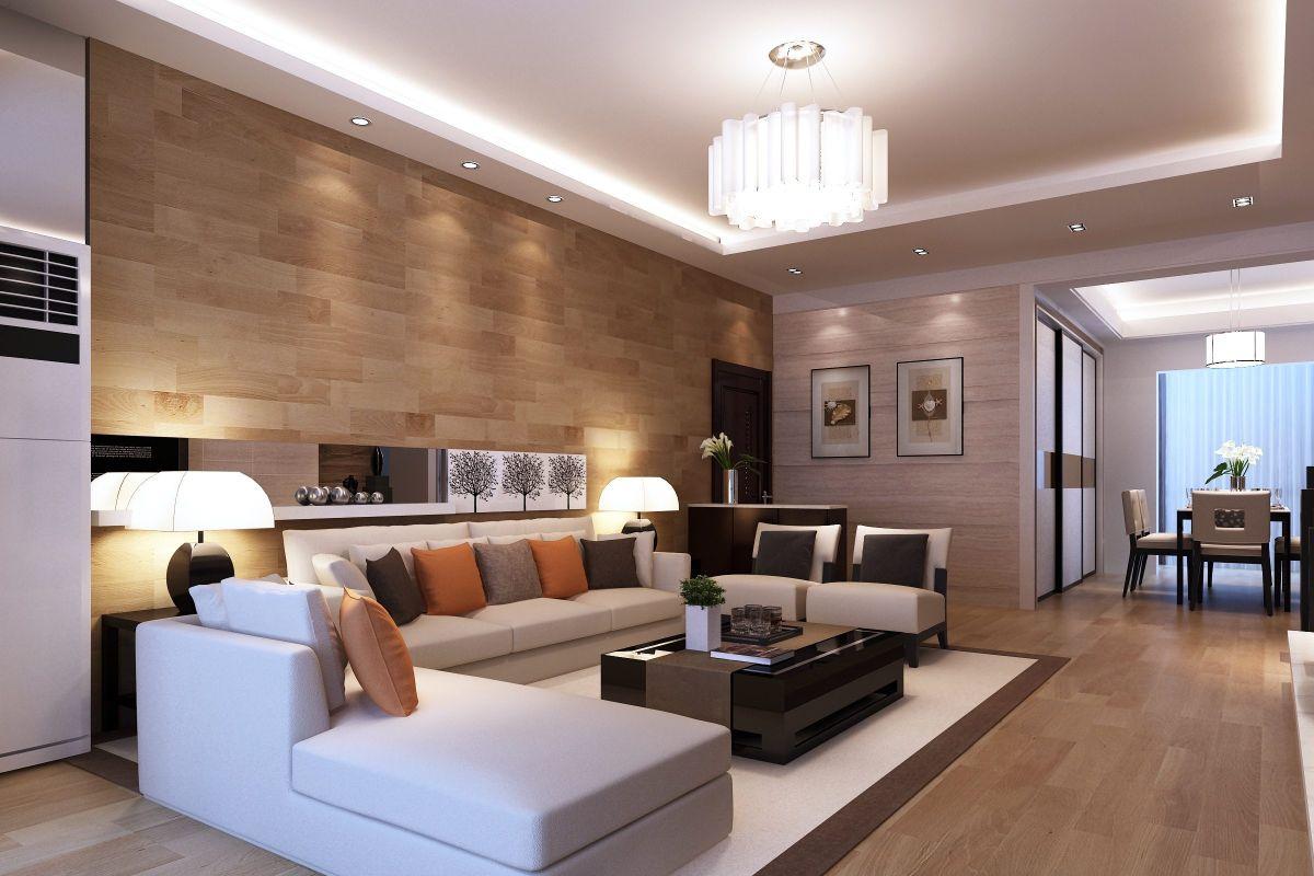 дизайн интерьера гостиной с двухуровневым потолком стиль модерн
