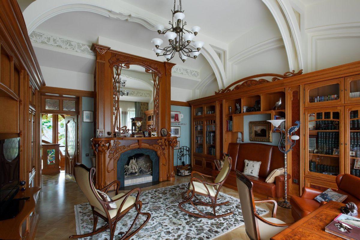 дизайн интерьера гостиной стиль модерн с элегантной мебелью