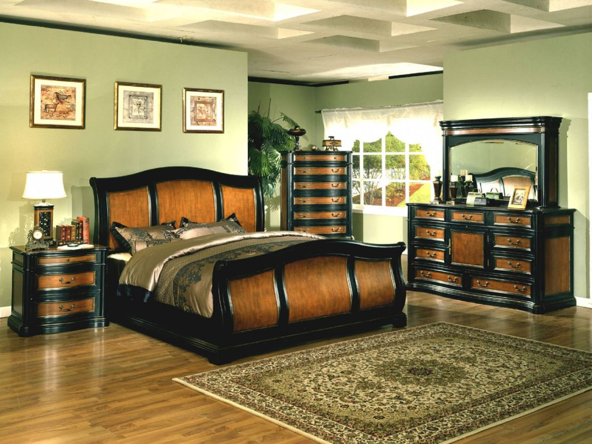 дизайн интерьера спальни с оливковыми стенами стиль модерн