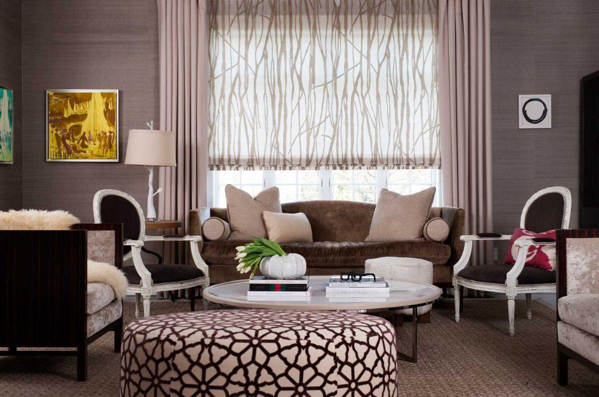 дизайн интерьера спальни стиль модерн в шоколадных тонах