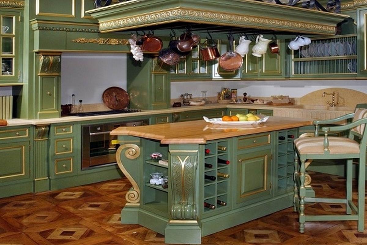 дизайн интерьера в стиле барокко кухня