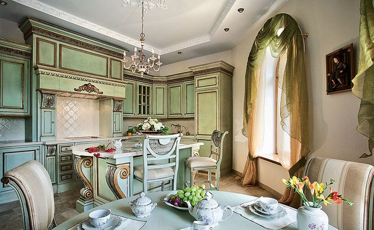 дизайн интерьера в стиле барокко на фото