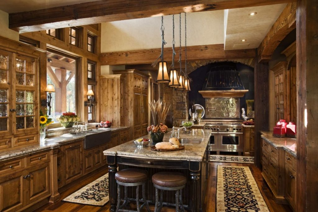 души дизайн кухни в стиле шале фото совсем
