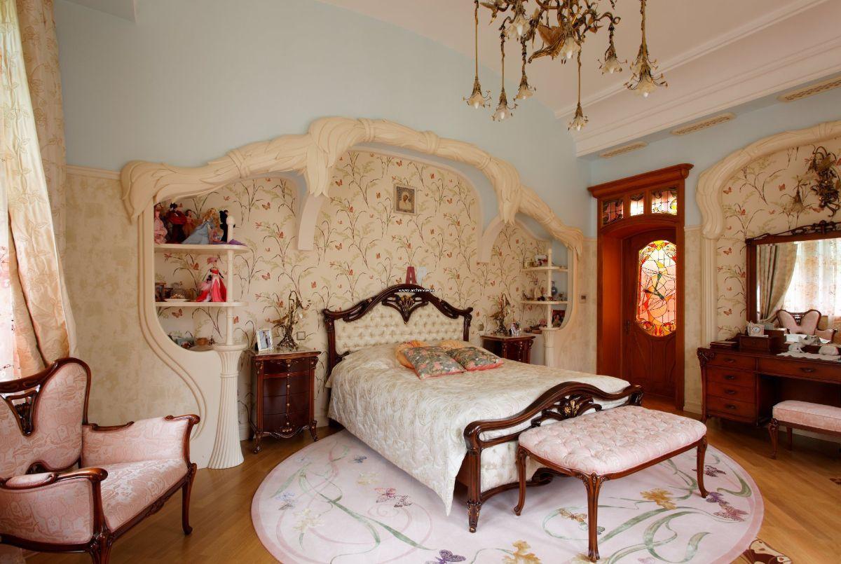 дорогой интерьер спальни в стиле модерн