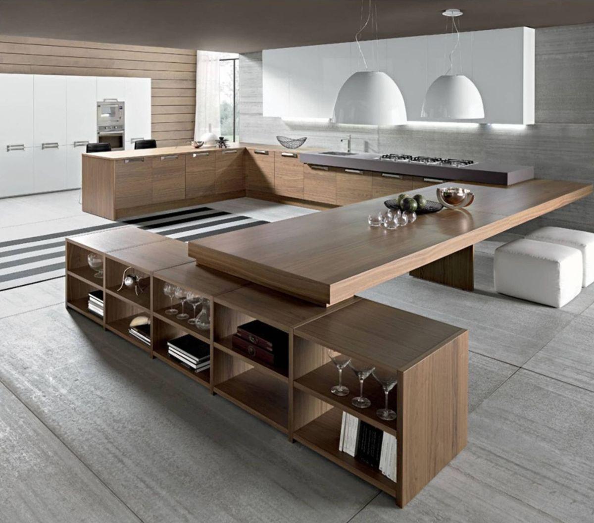 эффектный интерьер гостиной в стиле модерн просторное помещение