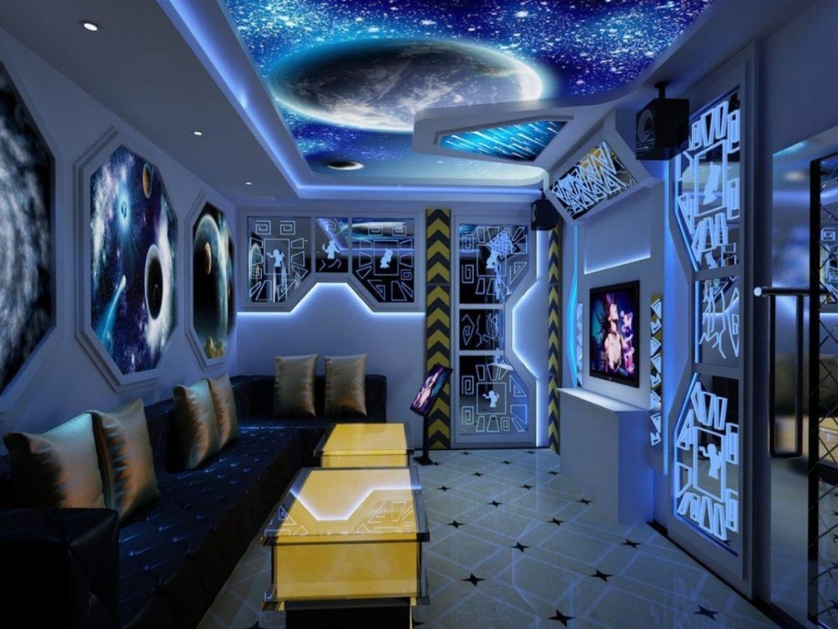 футуристический дизайн гостиной