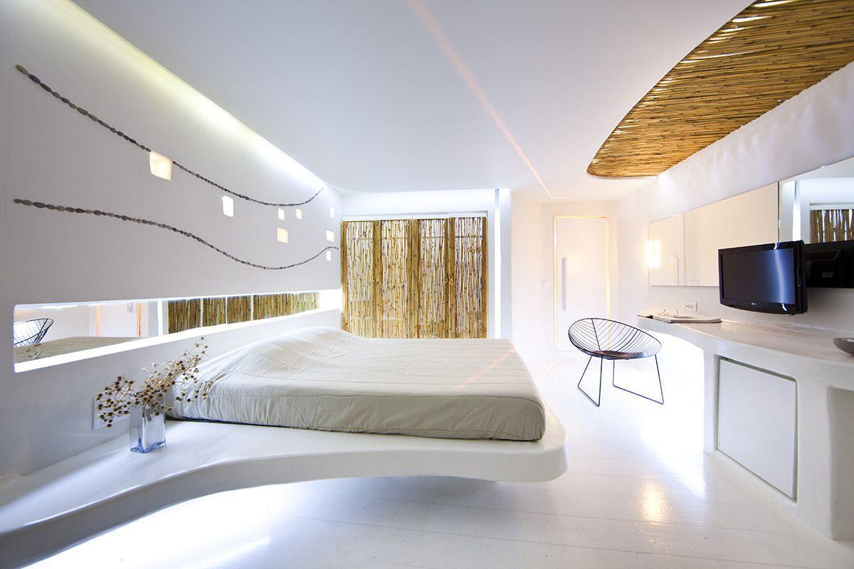 футуристический дизайн интерьера спальни