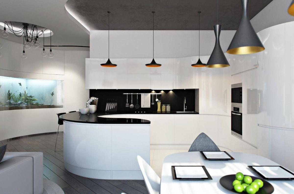 футуристический дизайн квартиры студии фото
