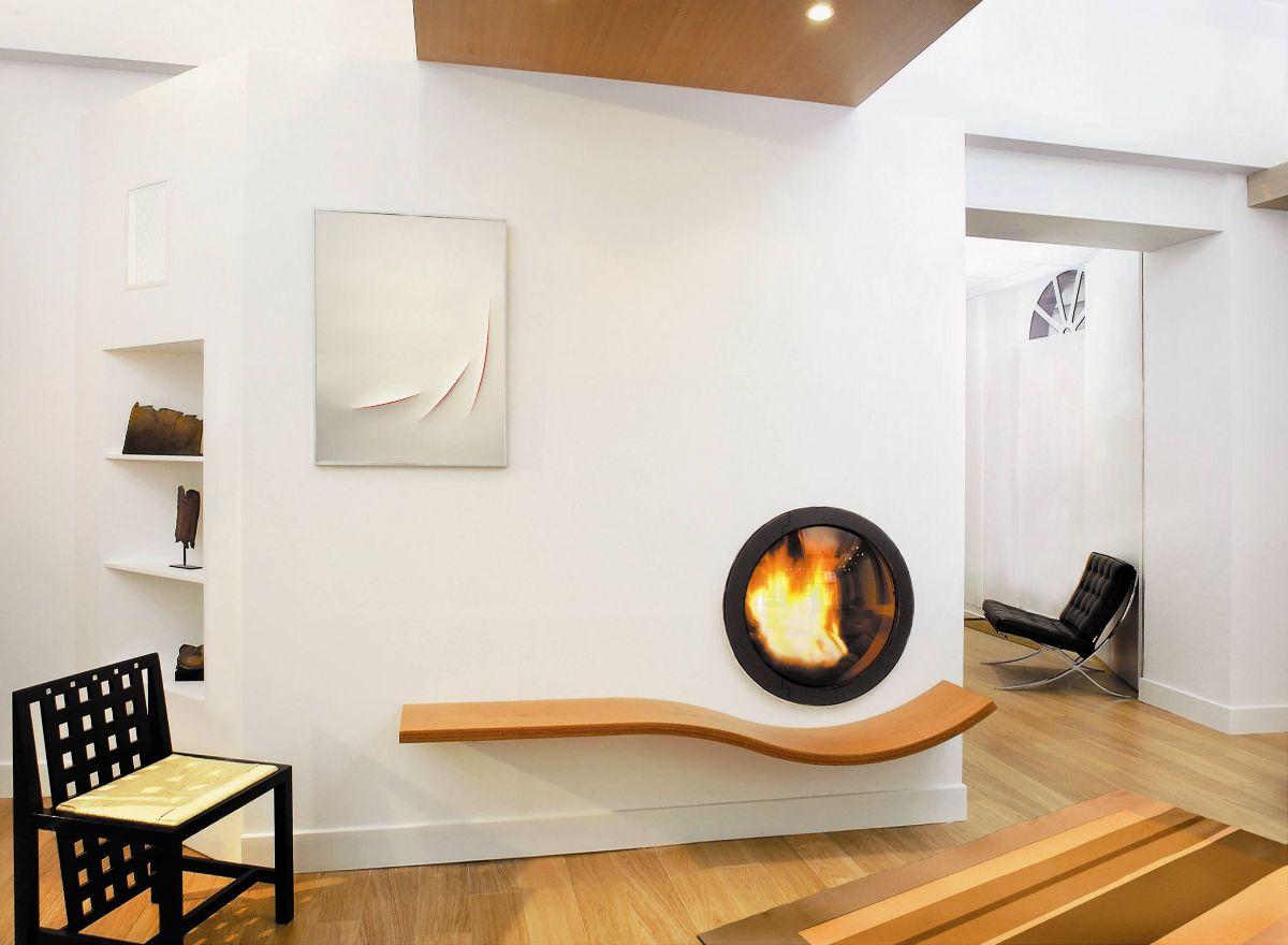 футуристический дизайн небольшой гостиной
