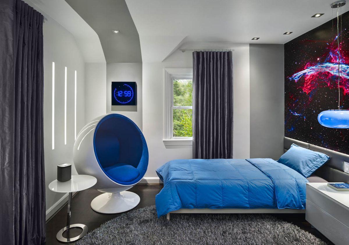 футуристический дизайн небольшой спальни