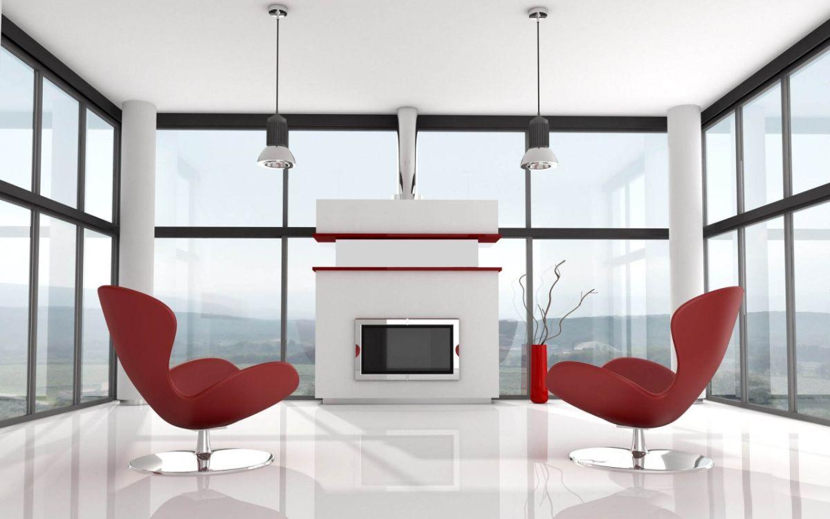 футуристический дизайн с панорамными окнами