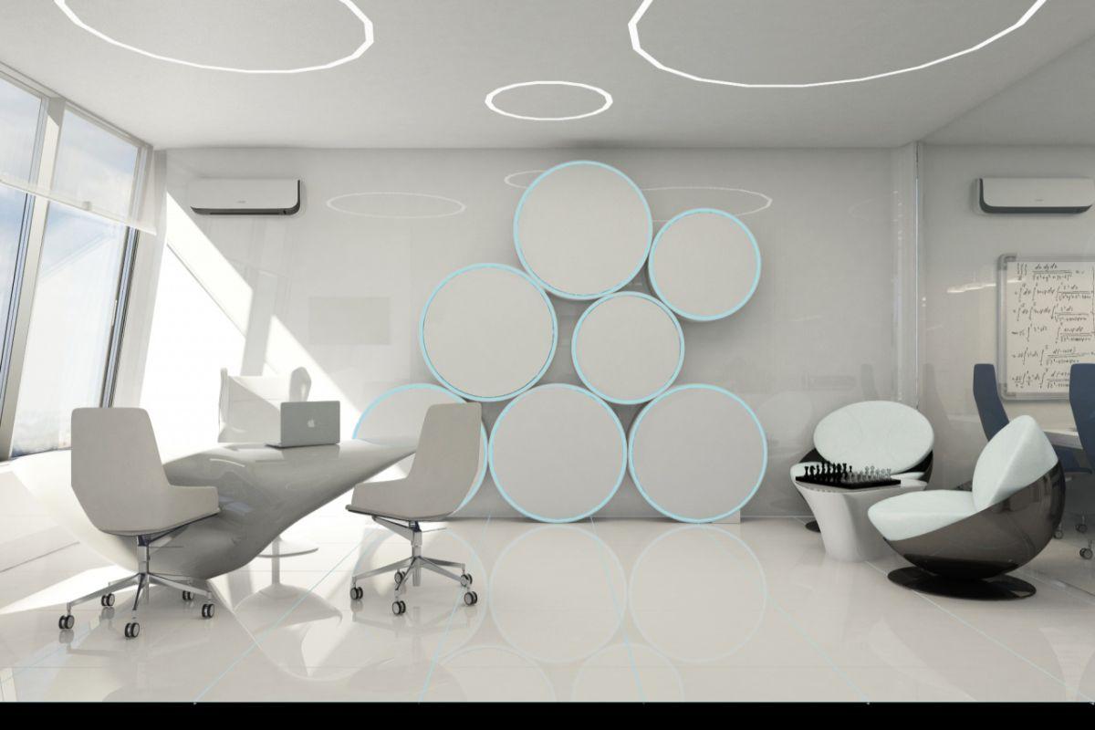 футуристический дизайн в белом цвете фото