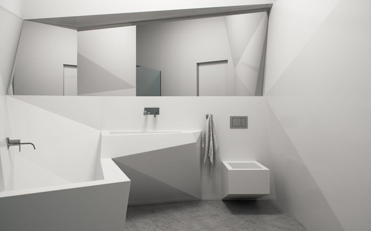футуристический дизайн ванной