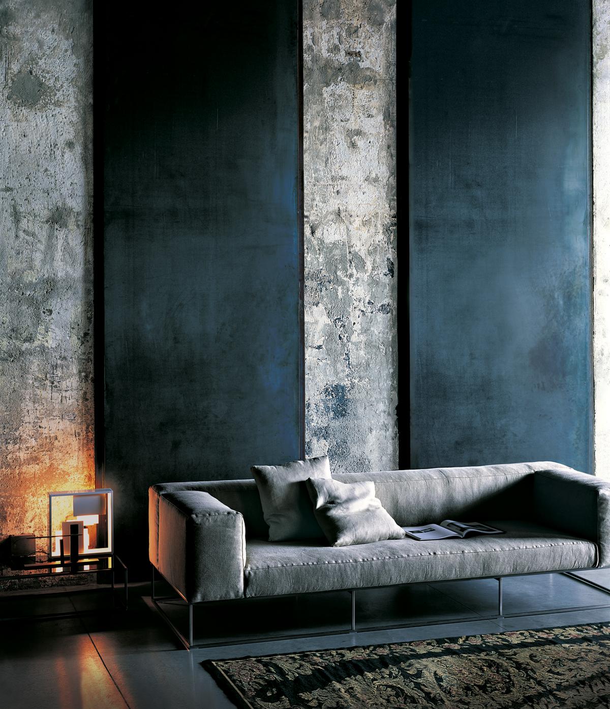 индустриальный стиль в дизайне интерьера акцентная стена