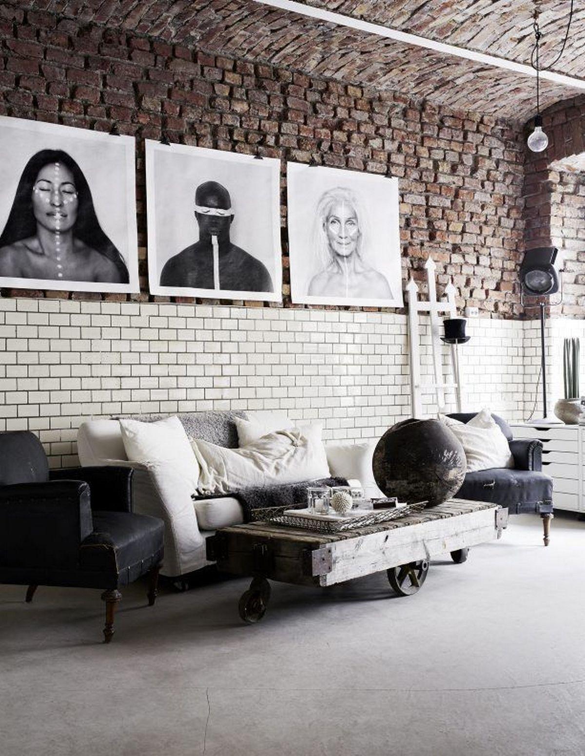 индустриалный стиль в дизайне интерьера на фото