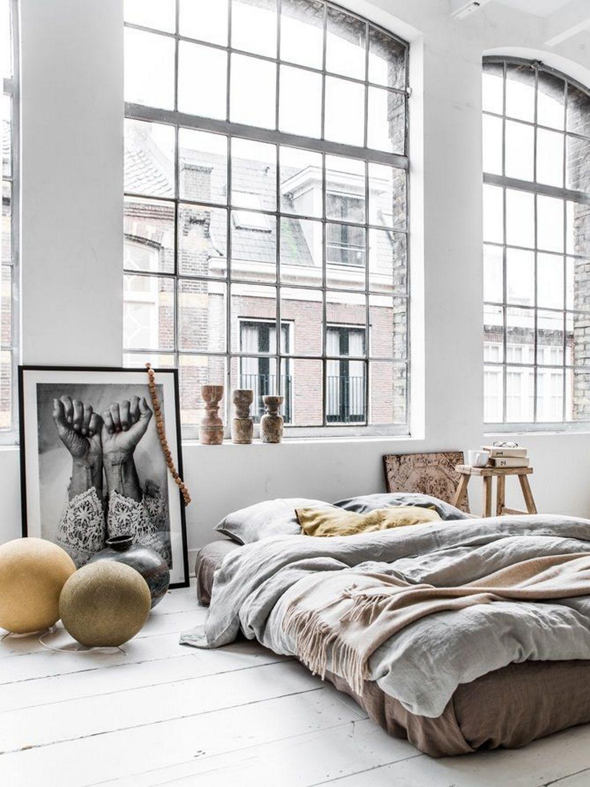 индустриальный стиль в дизайне интерьера спальня