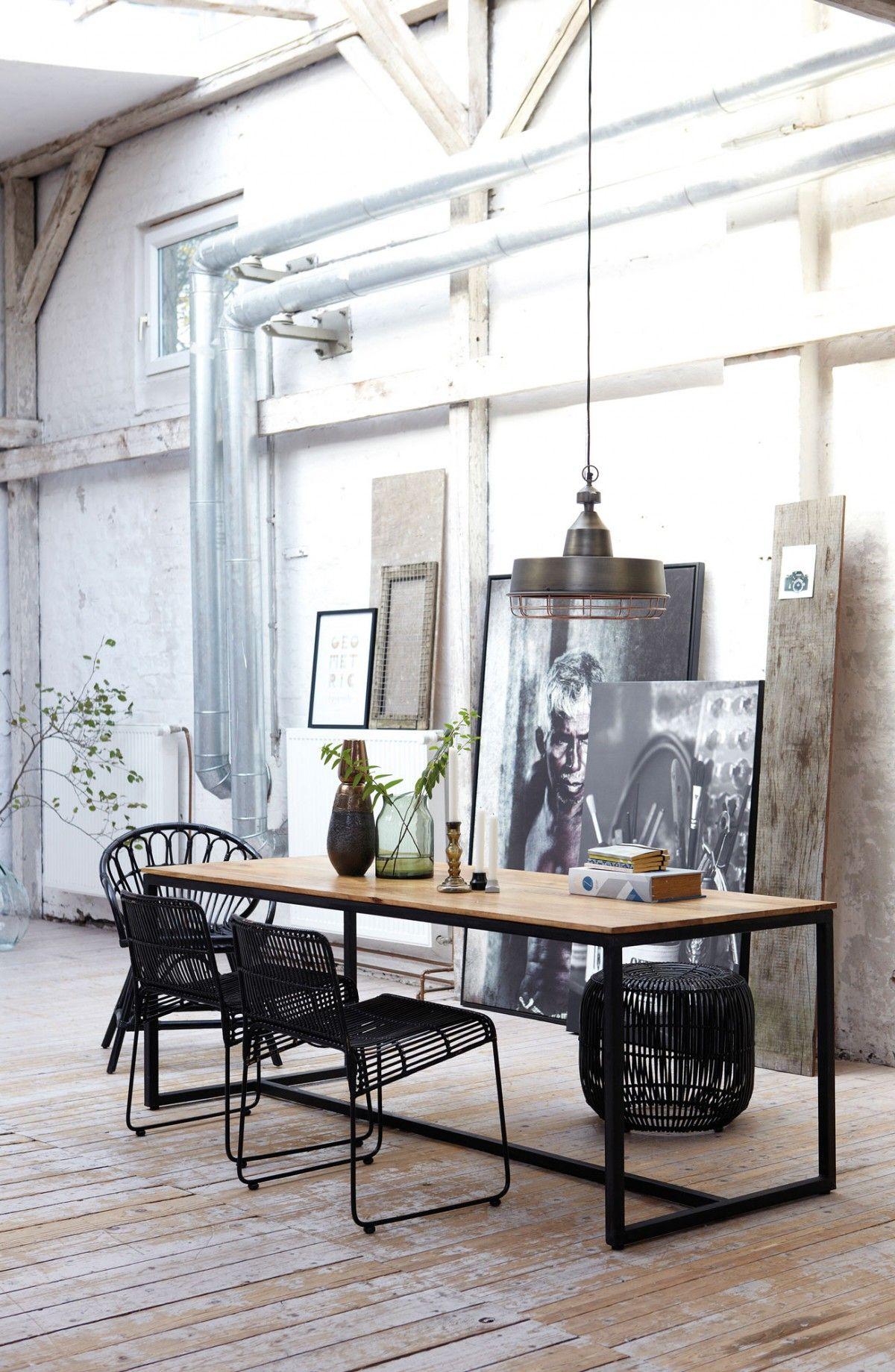 индустриальный стиль в интерьере элементы декора