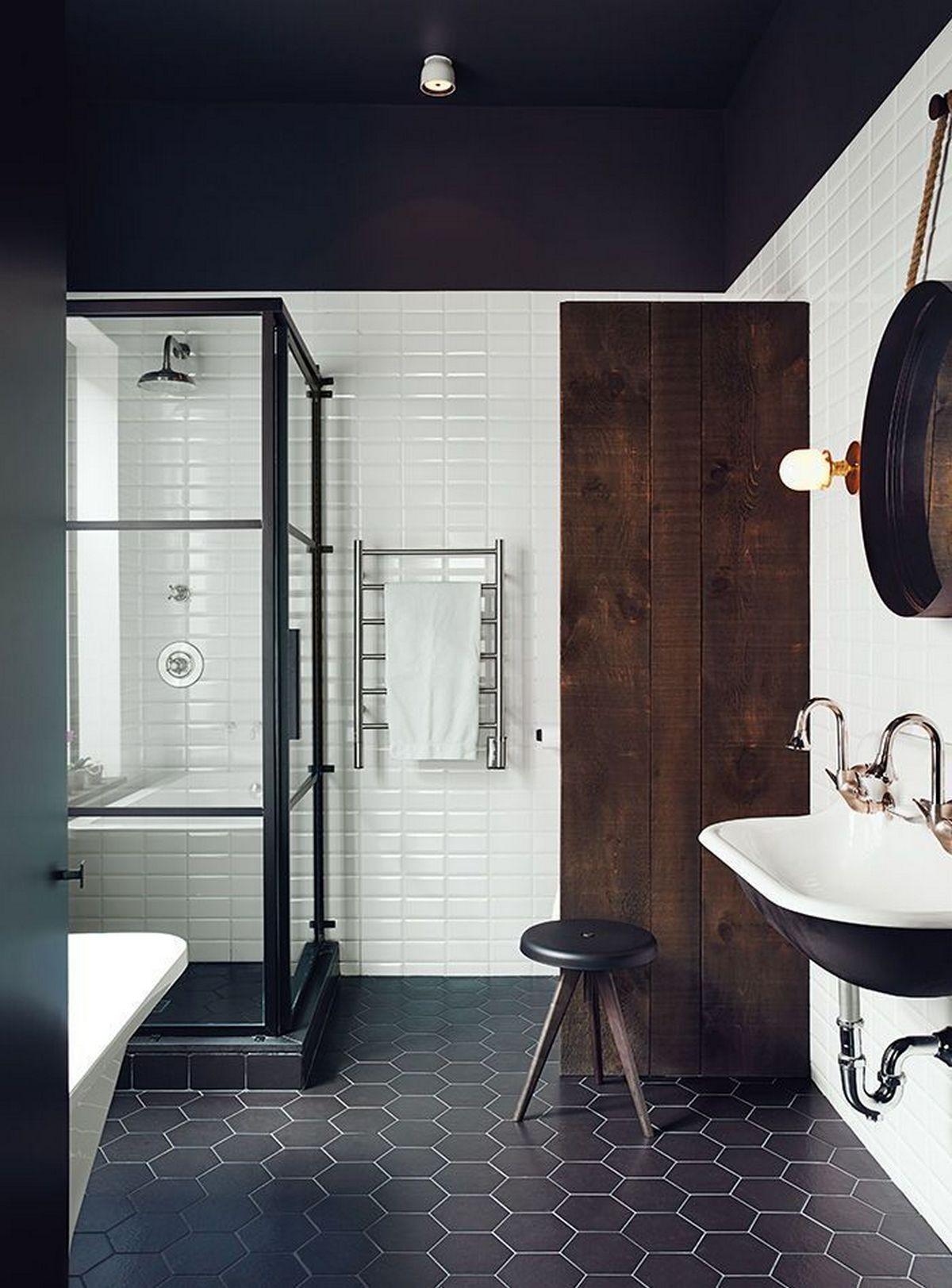 индустриальный стиль в интерьере фото ванная
