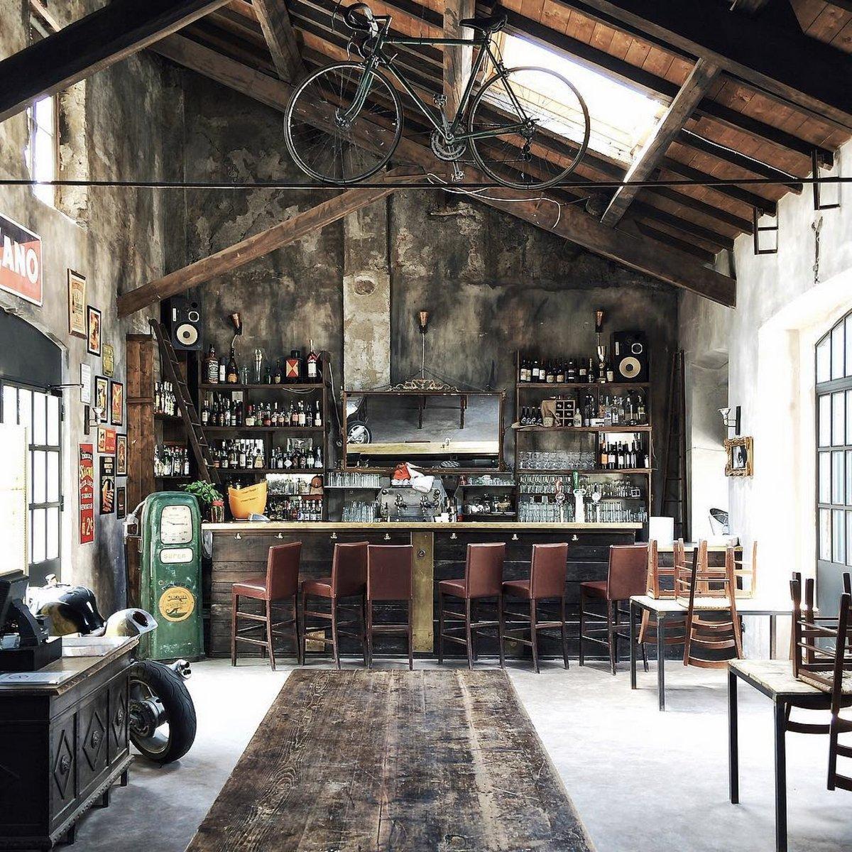 индустриальный стиль в интерьере квартиры кухня интересный дизайн