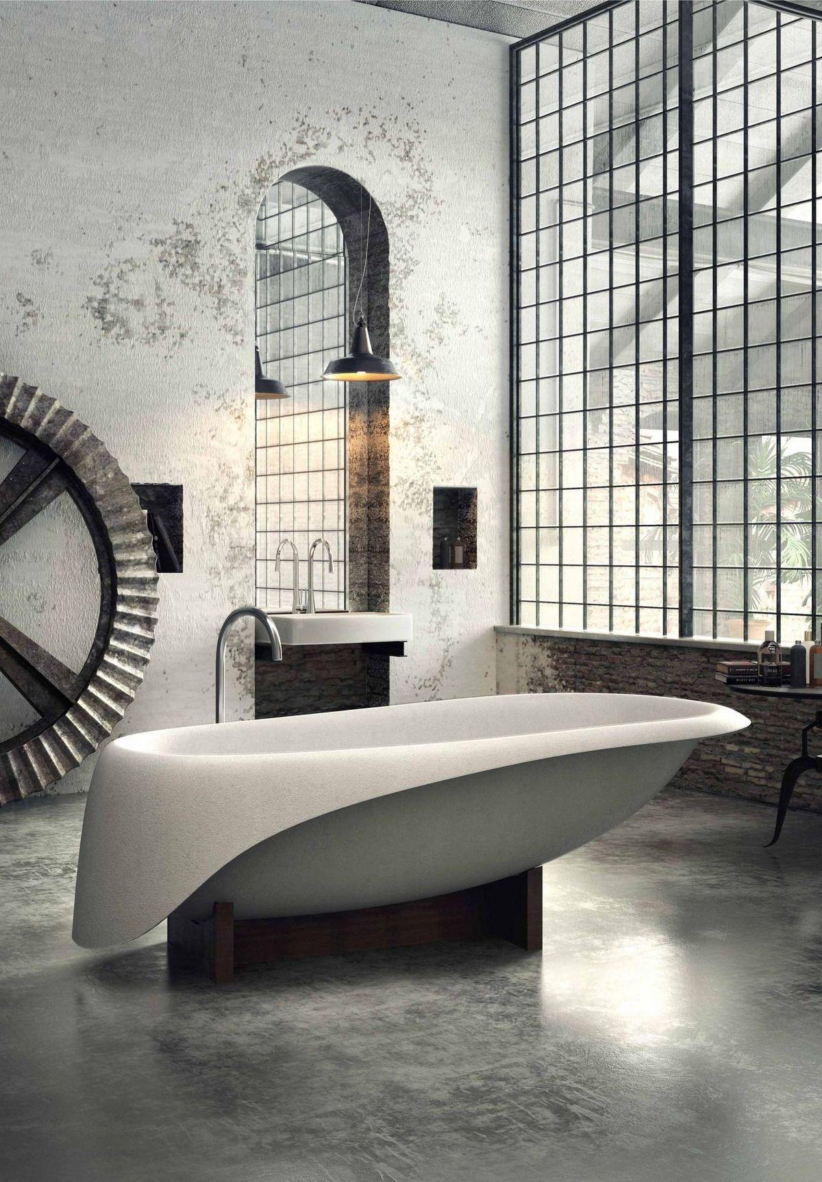 индустриальный стиль в интерьере ванной