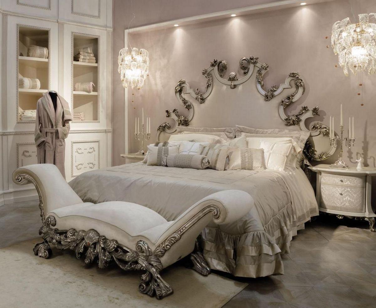 интерьер дома в стиле барокко спальня