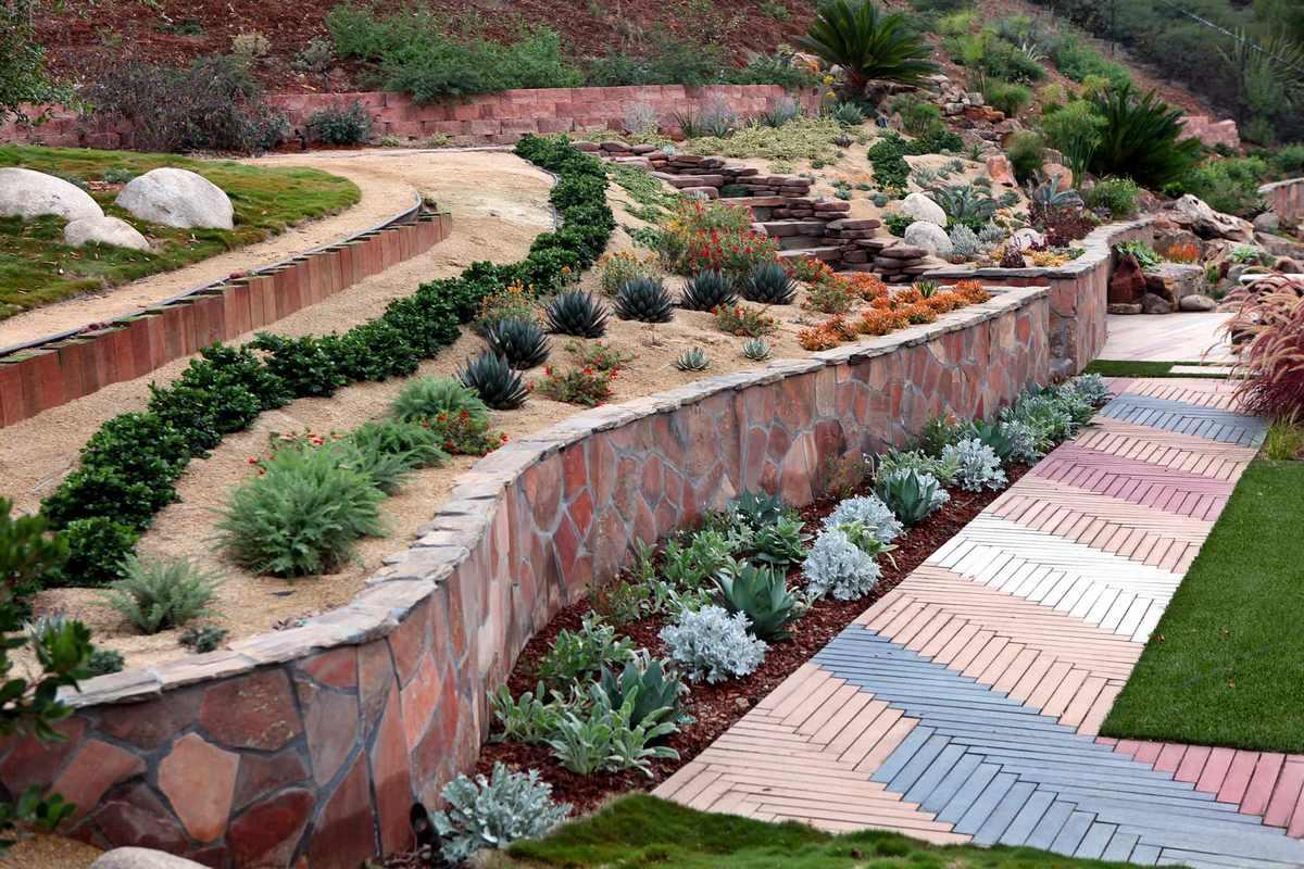 каскадный дизайн садового участка