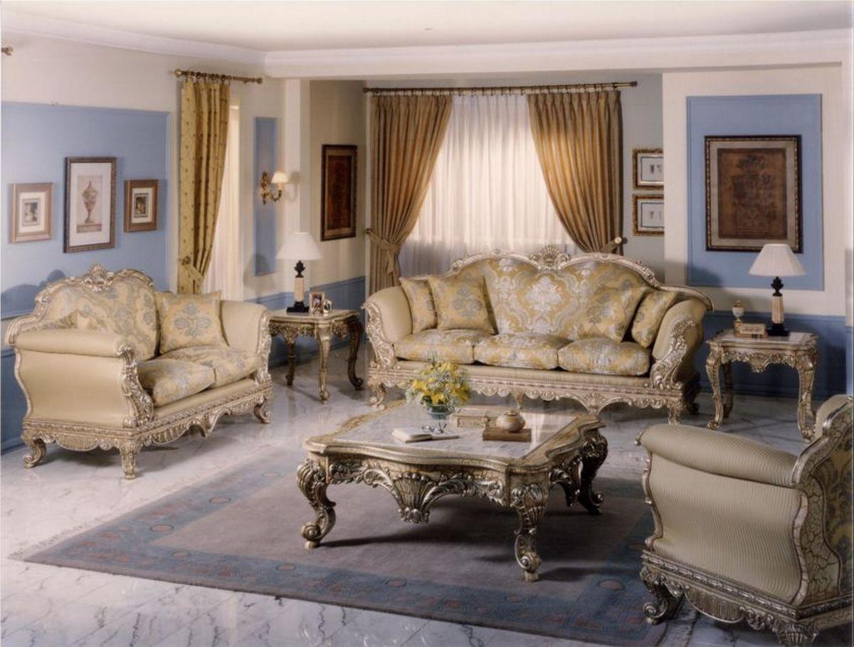 красивая гостиная в стиле барокко