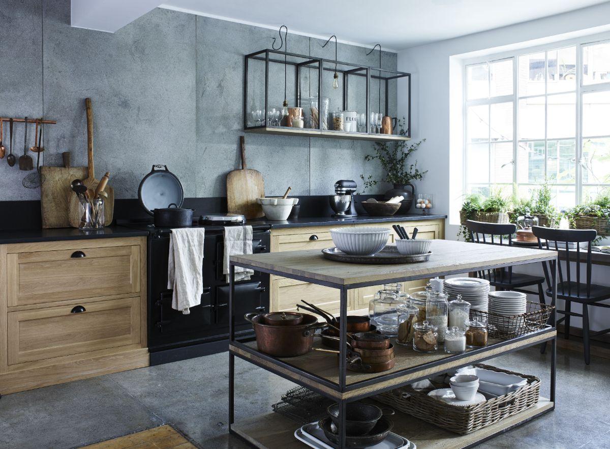 кухня в итальянском стиле лофт