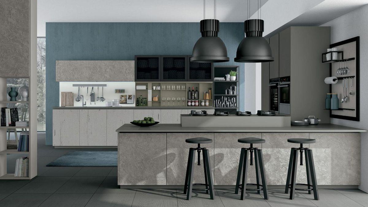 кухня в итальянском стиле минимализм