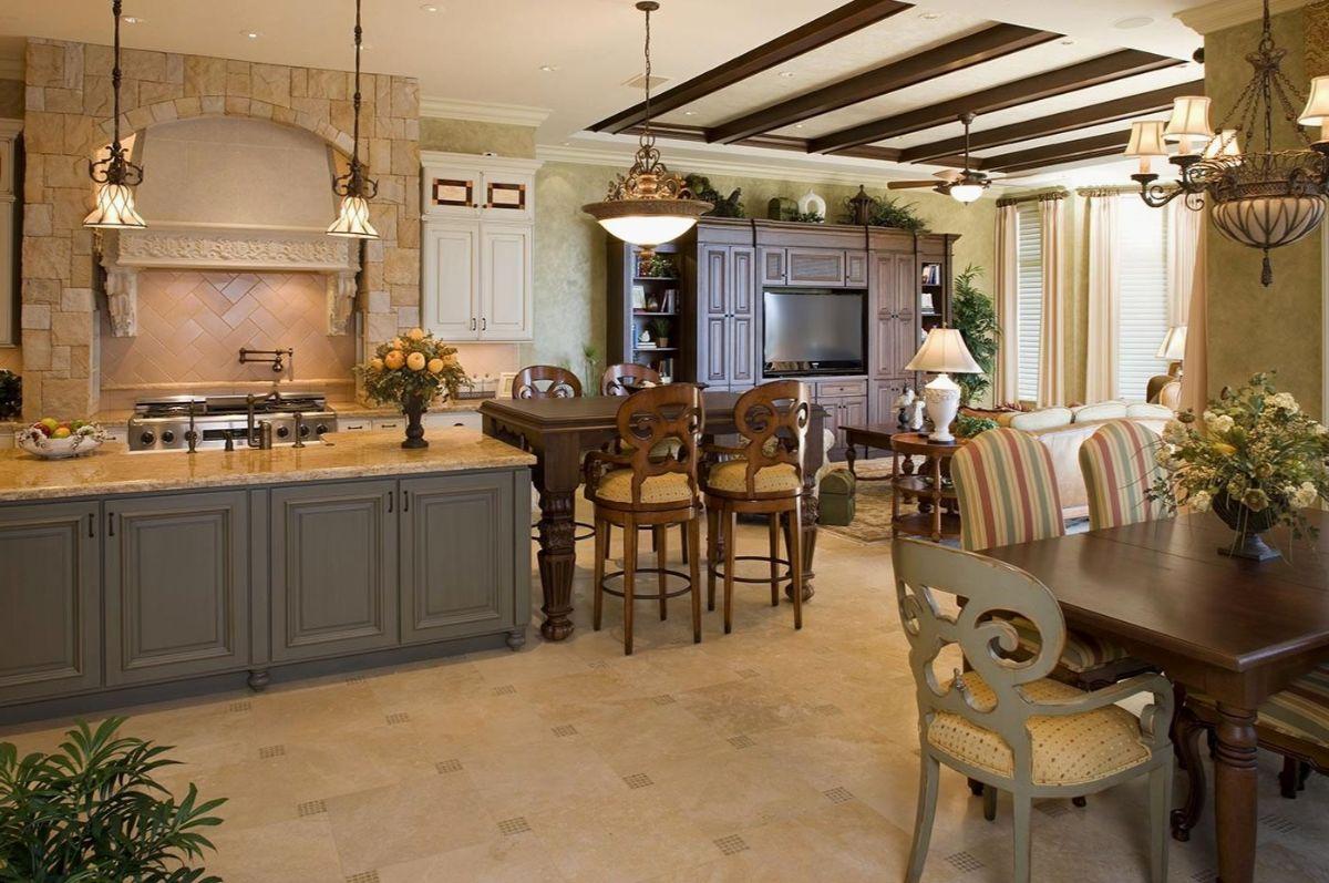 кухня в итальянском стиле современный интерьер