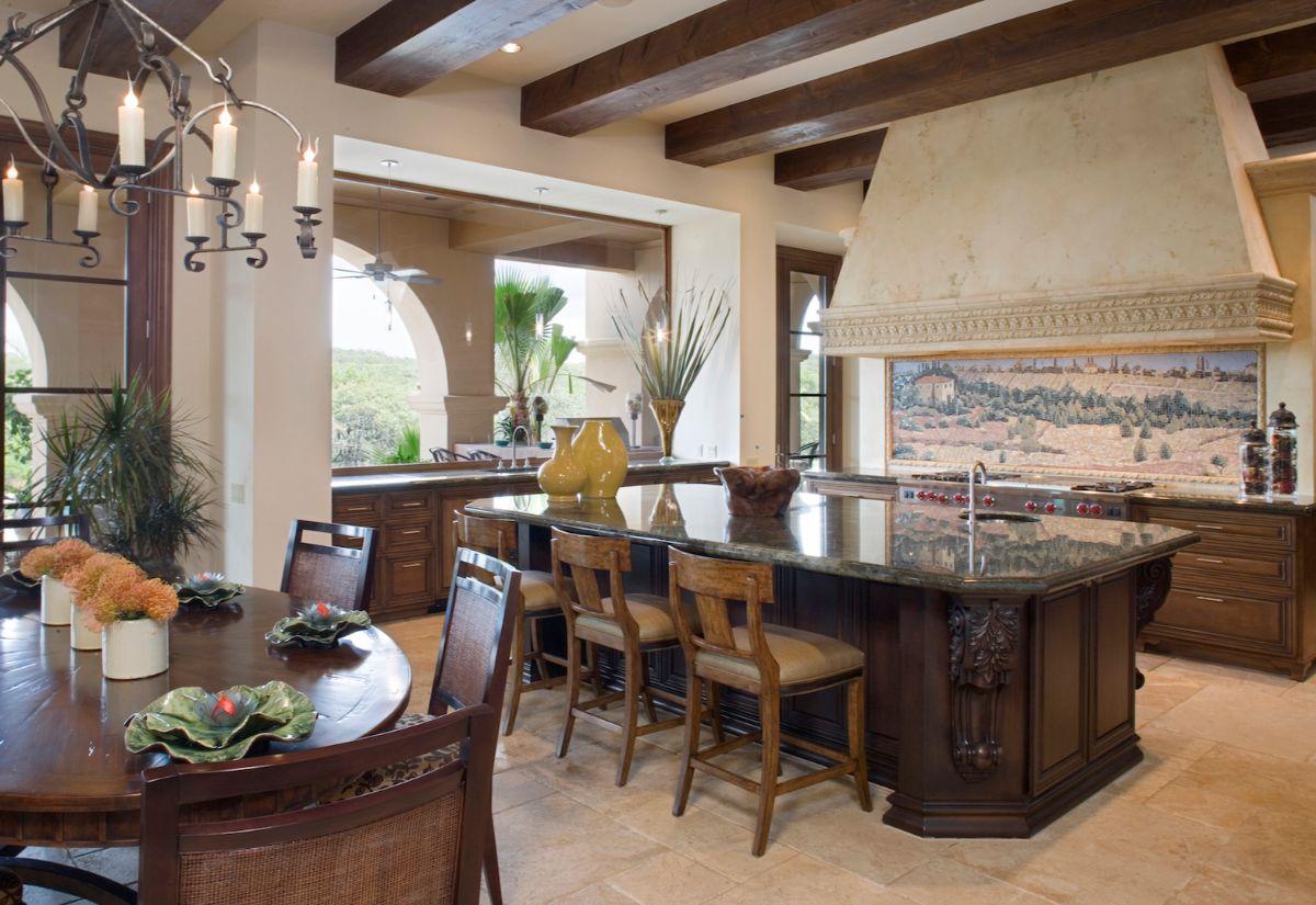 кухня в итальянском стиле благородный коричневый цвет