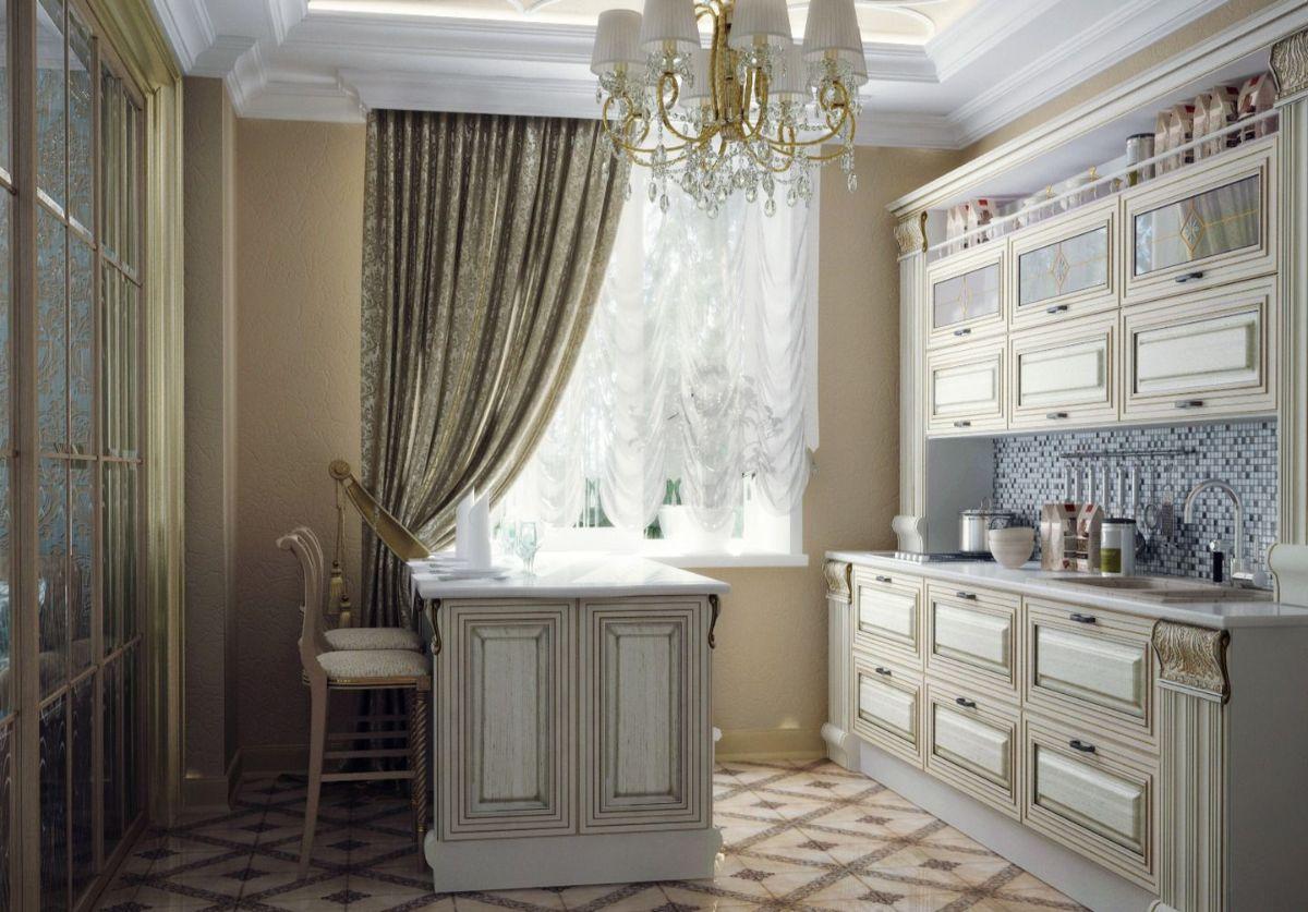 кухня в итальянском стиле декор окна