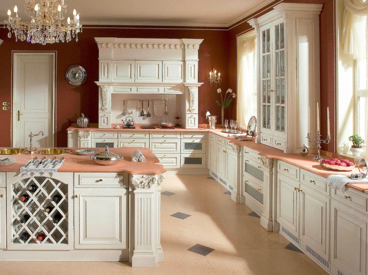 кухня в итальянском стиле горчичные стены
