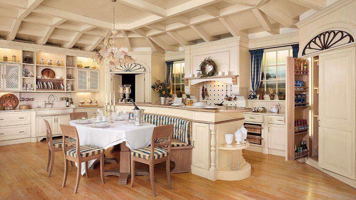 кухня в итальянском стиле лакшери интерьер